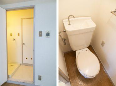 水回りスペース。奥がトイレ。