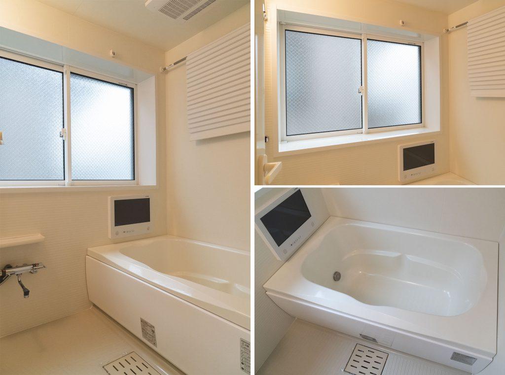 お風呂にも大きな窓。