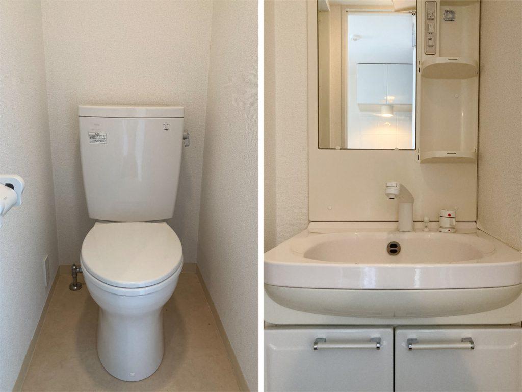 トイレと独立洗面台。
