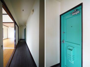 鮮やかな玄関扉がとっても映えます