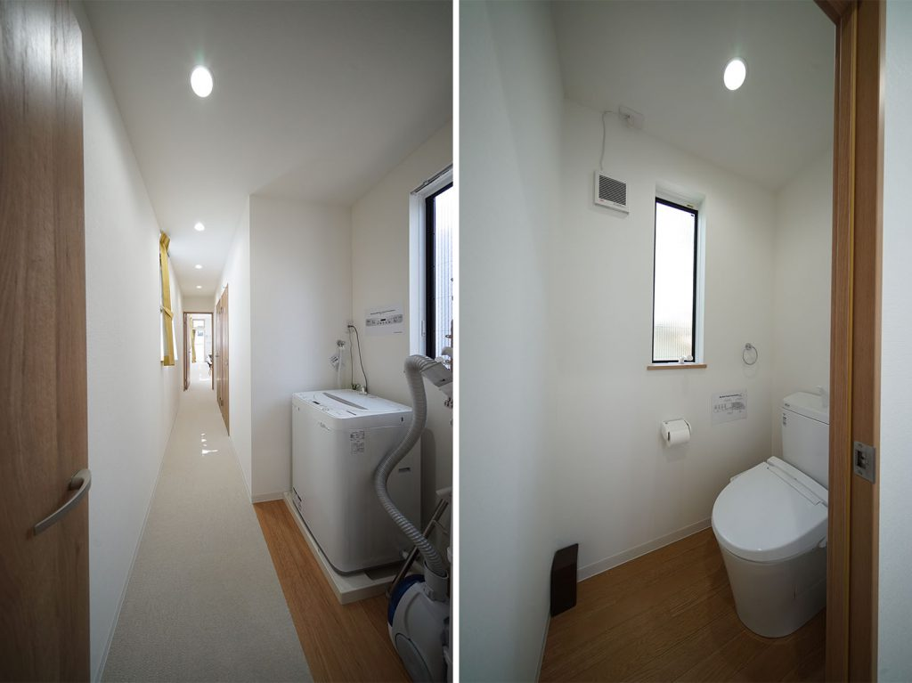 間の廊下とトイレ