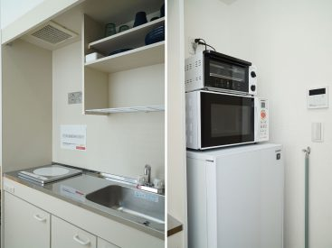 キッチンはコンパクトです