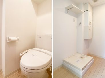 トイレと洗濯機置き場。