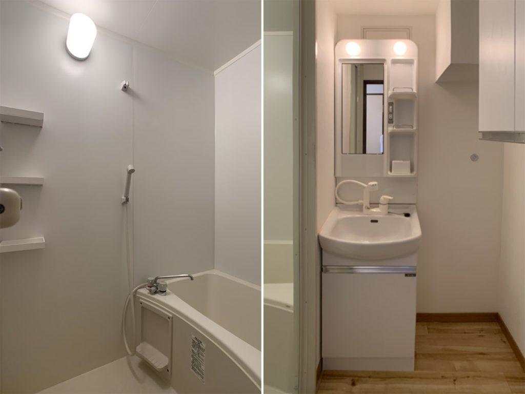 お風呂、トイレは新しいものに交換。