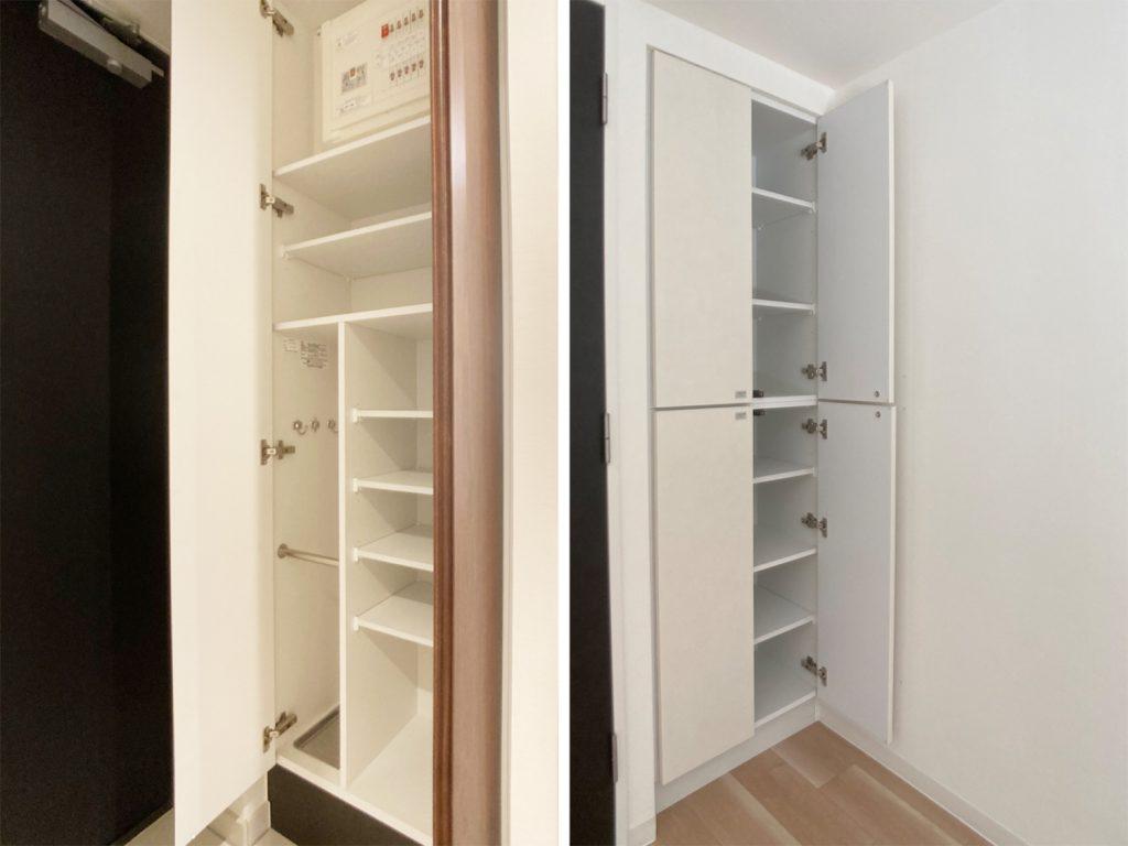 充実の玄関収納。と、お部屋の収納その1。