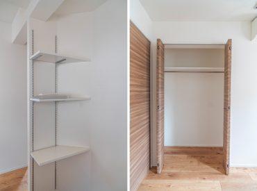 キッチン後ろの収納/5.5帖の洋室のクローゼット