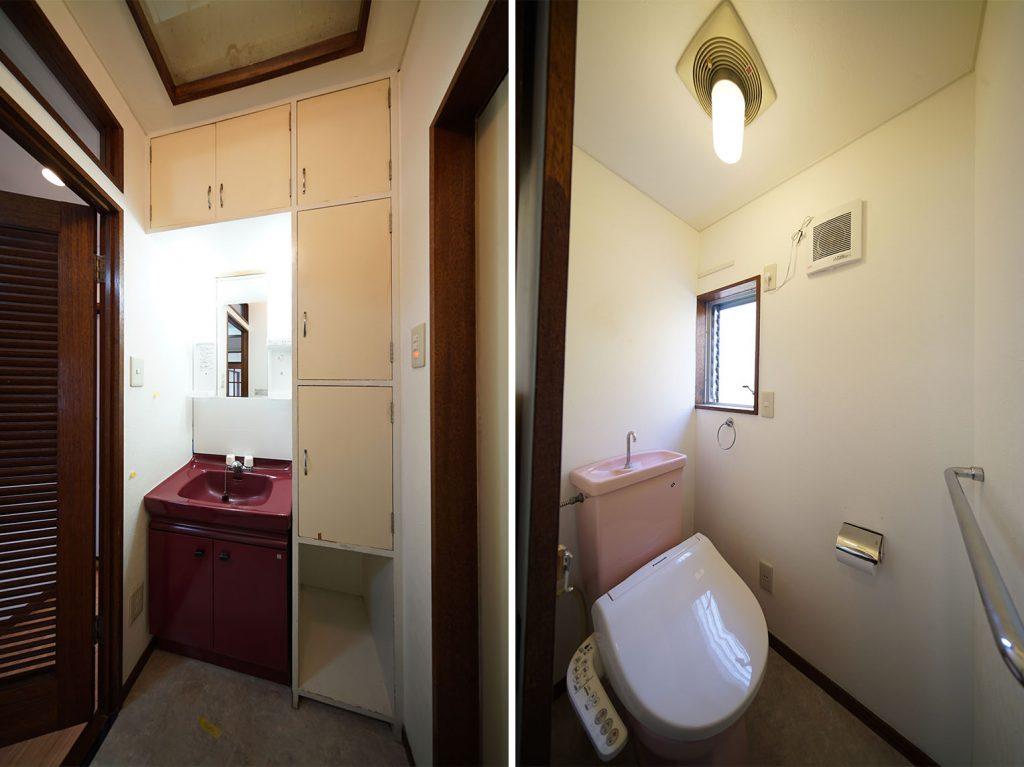 洗面周りの棚いい感じです