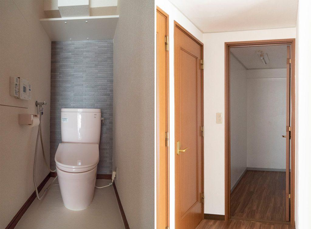 右側:2帖の納戸です。