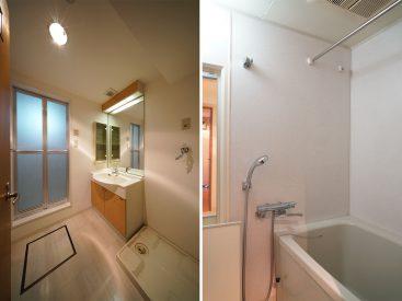 安定の洗面スペース