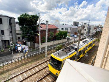 共用部からは世田谷線が望めます。